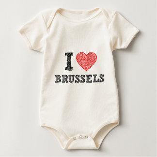 I Love Brussels Baby Bodysuit