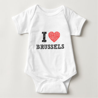 I Love Brussels Baby Bodysuit