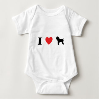 I Love Brussels Griffons Baby Bodysuit
