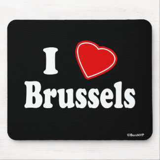I Love Brussels Mouse Pad