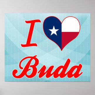 I Love Buda, Texas Poster