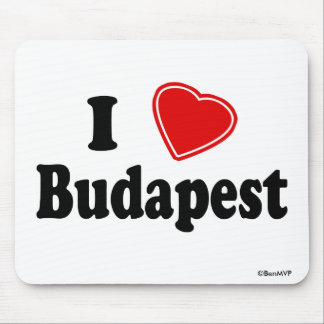 I Love Budapest Mouse Pad