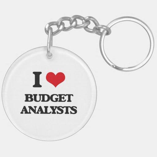 I love Budget Analysts Key Chains