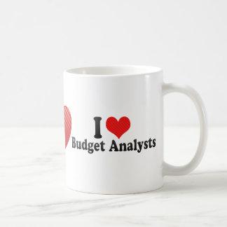 I Love Budget Analysts Coffee Mug