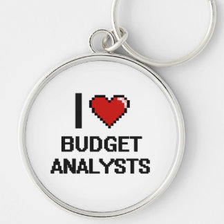 I love Budget Analysts Silver-Colored Round Key Ring