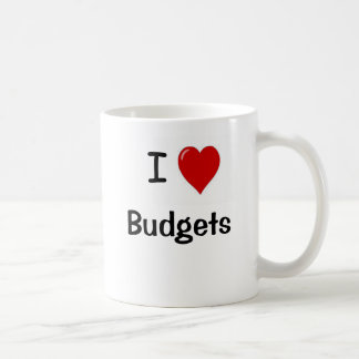 I Love Budgets I Heart Budgets Basic White Mug