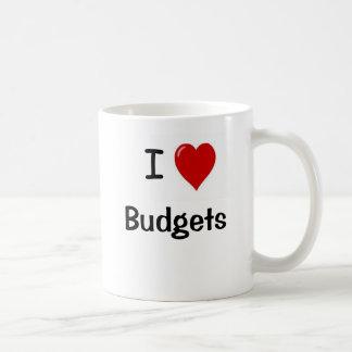 I Love Budgets I Heart Budgets Basic White Mug