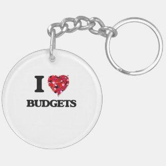I Love Budgets Double-Sided Round Acrylic Key Ring