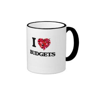 I Love Budgets Ringer Mug