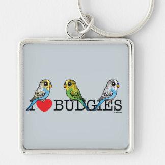 I Love Budgies Key Ring