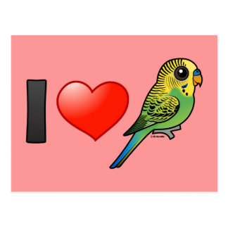 I Love Budgies Postcard