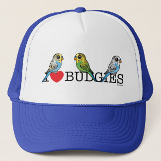 I Love Budgies Trucker Hat
