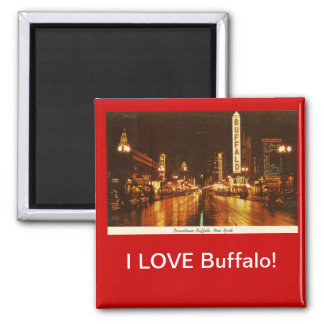 I LOVE Buffalo! Square Magnet