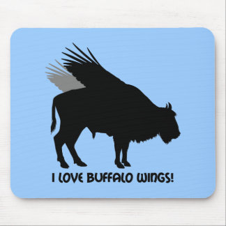 I love buffalo wings mouse pad