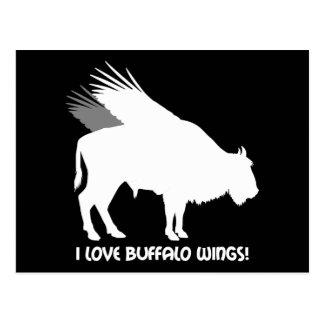I love buffalo wings postcards