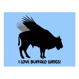 I love buffalo wings postcard