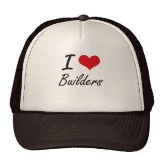 I Love Builders Artistic Design Cap