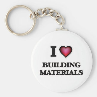 I Love Building Materials Basic Round Button Key Ring