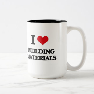 I Love Building Materials Mugs