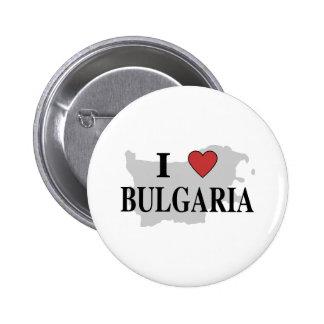 I Love Bulgaria 6 Cm Round Badge