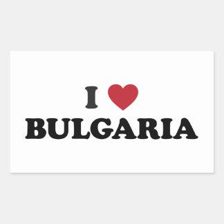 I Love Bulgaria Rectangular Sticker