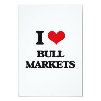 I Love Bull Markets 3.5x5 Paper Invitation Card