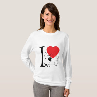 I love Bull Terrier T-Shirt