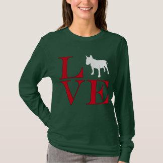 I Love Bull Terriers - Dark Colored Tee