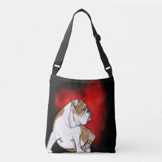 I Love Bulldog Crossbody Bag