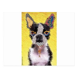 I love bulldog postcard