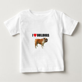 I Love Bulldogs Baby T-Shirt