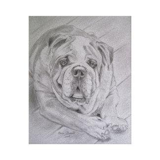 """I Love Bulldogs"" Canvas Print"