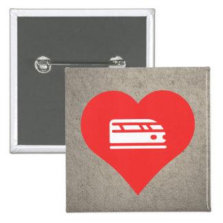 I Love Bullet Trains 15 Cm Square Badge