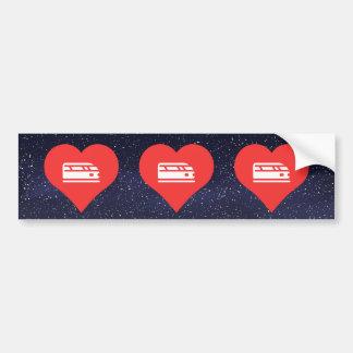 I Love Bullet Trains Bumper Sticker