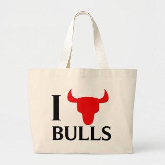 I Love Bulls Canvas Bag
