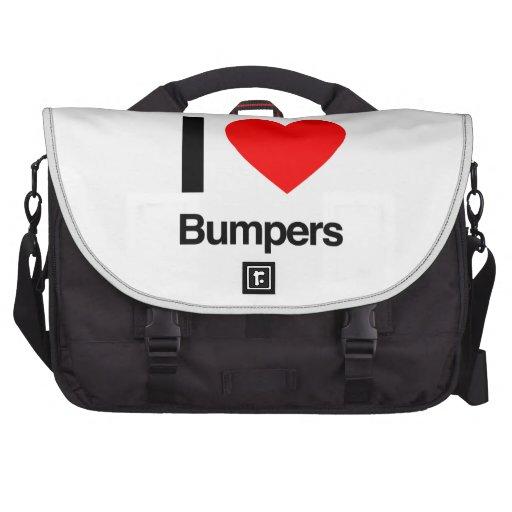 i love bumpers laptop commuter bag