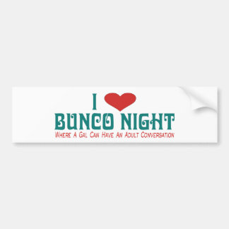 i love bunco night bumper sticker