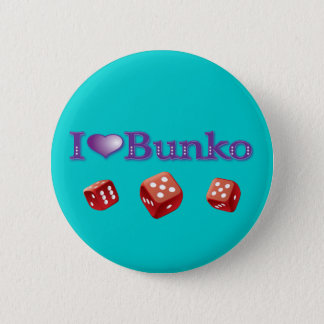 I Love Bunko 6 Cm Round Badge