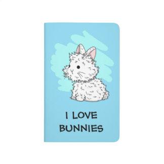 I love bunnies journal - Blue