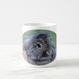 I love bunnies mug. basic white mug