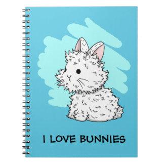 I love bunnies notebook - Blue