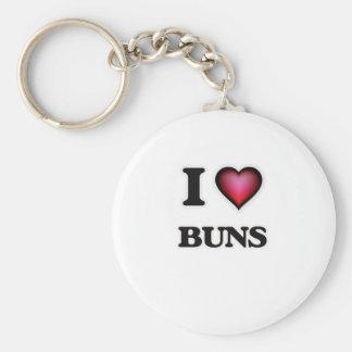 I Love Buns Key Ring