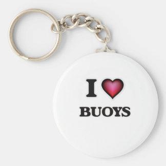 I Love Buoys Basic Round Button Key Ring