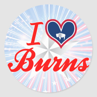 I Love Burns, Wyoming Sticker