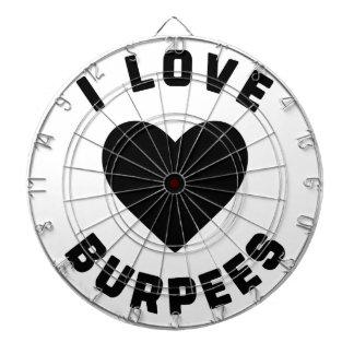 I Love Burpees Dartboard