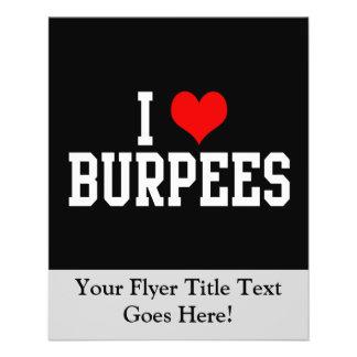 I Love Burpees, Fitness 11.5 Cm X 14 Cm Flyer