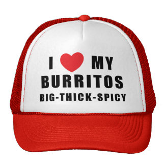 I Love Burritos Cap