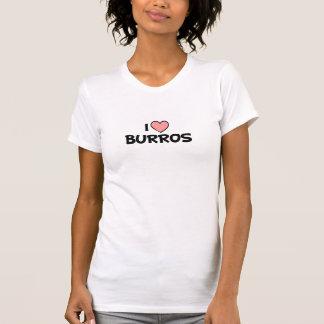 I Love Burros Design T-Shirt