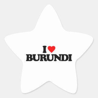 I LOVE BURUNDI STICKERS