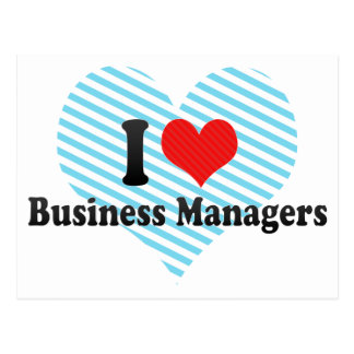 I Love Business Managers Postcard